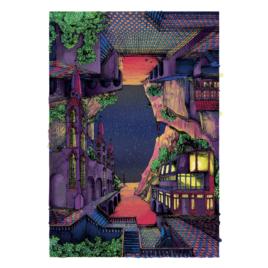 Werk getiteld 'Flipscape bij Nacht'