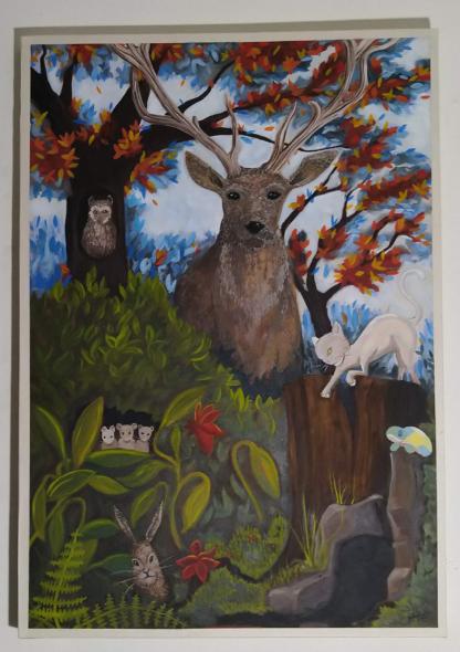 Schilderij van een Hert