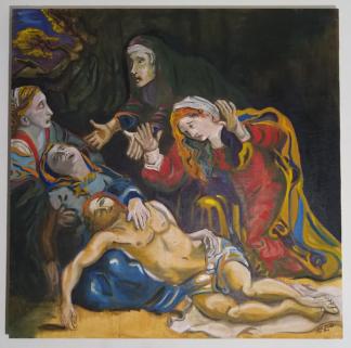 Schilderij met drie Maria's